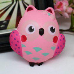 Simulation Owl Slow Rising Squishy Toy - PINK
