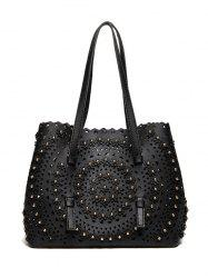 Rivet Hollow Out Shoulder Bag -