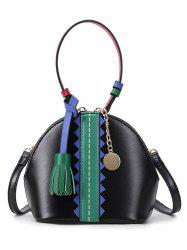 Color Block Tassel Mini Crossbody Bag -