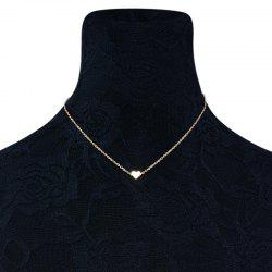 Heart Shape Collarbone Necklace - GOLDEN