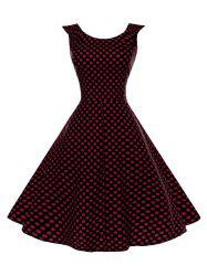 Polka Dot Sleeveless Vintage Dress