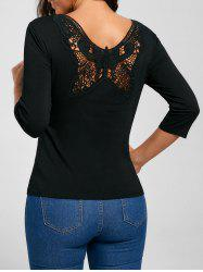 Back Butterfly Lace T-shirt