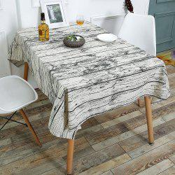 Wood Grain Print Linen Table Cloth for Dining - WOOD
