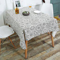 Bohemian Dining Linen Table Desk Cover - GRAY