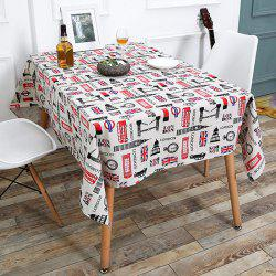 British Style Printed Linen Table Cloth for Kitchen - COLORFUL