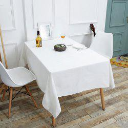 Linen Table Cloth for Kitchen - WHITE