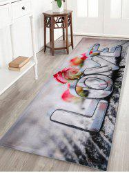 Coral Velvet Love Letter Home Entrance Rug