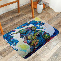 Elephant Spray Water Bubble Print Area Rug