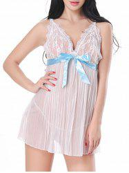 Lace Sheer Cami Lingerie Dress