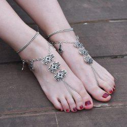 1PC Alloy Engraved Vintage Slave Anklet