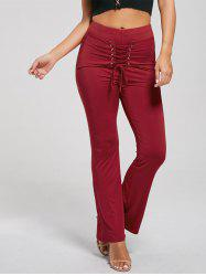 High Waist Lace Up Corset Pants