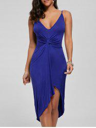 Knotted Asymmetrical Slip Dress