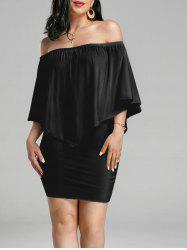 Off The Shoulder Poncho Bodycon Popover Dress