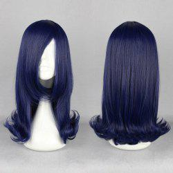 Long Side Bang Straight Tail Upwards Cosplay Anime Synthetic Wig - CERULEAN
