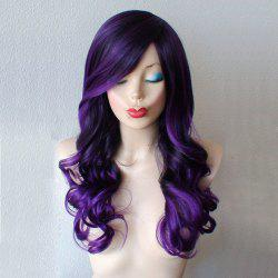 Long Inclined Bang Wavy Synthetic Wig