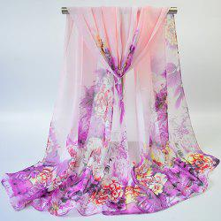 Hand-painted Flowers Bloom Printing Scarf -