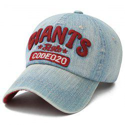 Letters Number Embroidered Baseball Hat