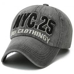 Letters Number Embroidered Nostalgic Baseball Cap - GRAY