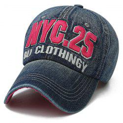 Letters Number Embroidered Nostalgic Baseball Cap - DEEP BLUE