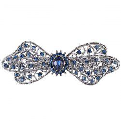 Faux Crystal Inlay Flower Hollow Out Barrette