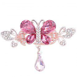 Butterfly Shape Rhinestone Inlay Hair Clip - TUTTI FRUTTI