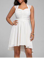 Lace Panel Sweetheart High Low Dress
