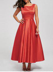 Bowknot Backless Swing Retro Prom Dress