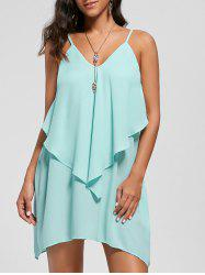 Overlay Flowy Cami Mini Dress - MINT
