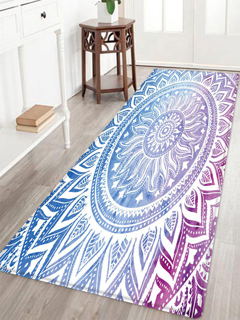 Mandala Pattern Anti-skid Water Absorption Area RugHOME<br><br>Size: W24 INCH * L71 INCH; Color: COLORMIX; Products Type: Bath rugs; Materials: Flannel,Sponge; Style: Bohemian; Shape: Rectangle; Package Contents: 1 x Rug;