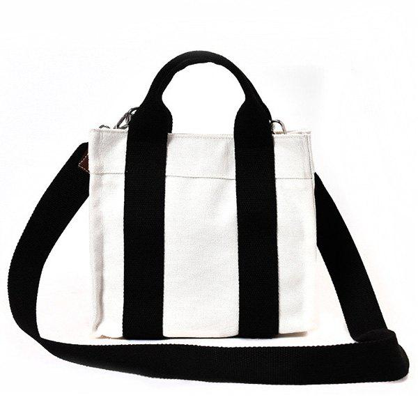 43b04d9ec 32% OFF] Striped Canvas Tote Bag | Rosegal