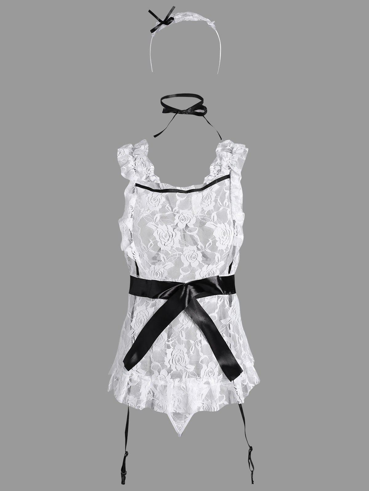 Latest Lace Ruffles Maid Cosplay Costume