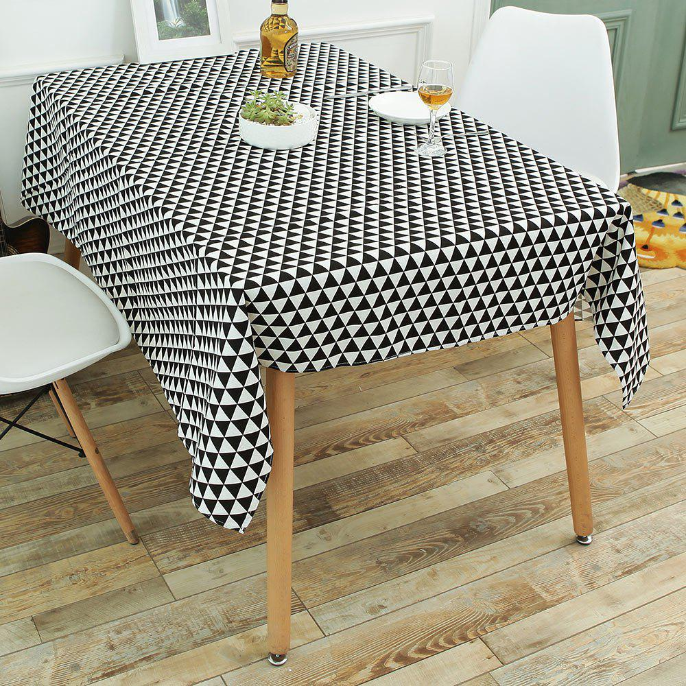 Fashion Geometry Print Linen Kitchen Dining Decor Tablecloth