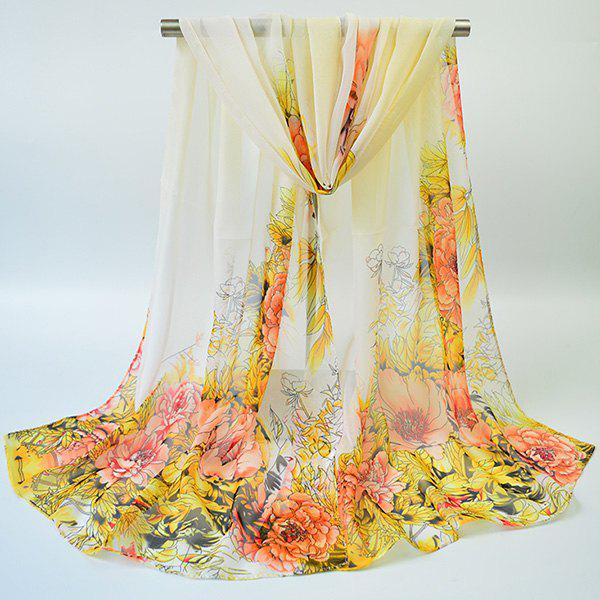 Best Hand-painted Flowers Bloom Printing Scarf