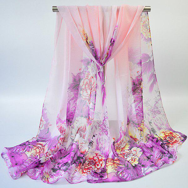 Fancy Hand-painted Flowers Bloom Printing Scarf