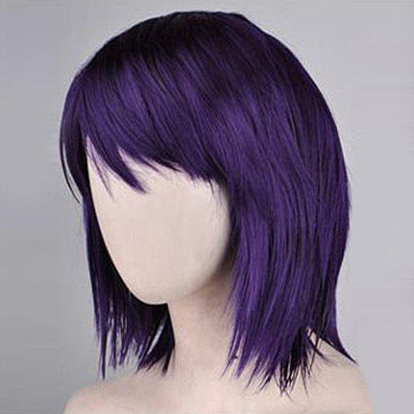 Side Bang Neck Length Short Straight Synthetic WigHAIR<br><br>Color: CONCORD; Type: Full Wigs; Cap Construction: Capless; Style: Straight; Material: Synthetic Hair; Bang Type: Side; Length: Short; Length Size(CM): 30; Weight: 0.1800kg; Package Contents: 1 x Wig;