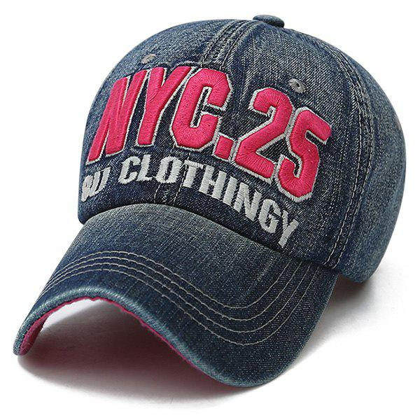 Fancy Letters Number Embroidered Nostalgic Baseball Cap