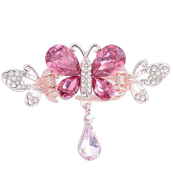 Butterfly Shape Rhinestone Inlay Hair ClipACCESSORIES<br><br>Color: TUTTI FRUTTI; Headwear Type: Hairgrips; Group: Adult; Gender: For Women; Style: Fashion; Pattern Type: Animal; Shape/Pattern: Animal; Material: Alloy; Weight: 0.0100kg; Package Contents: 1 x Hairgrip;
