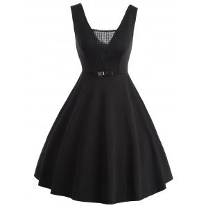 See Tru Net Panel Vintage Fit and Flare Dress