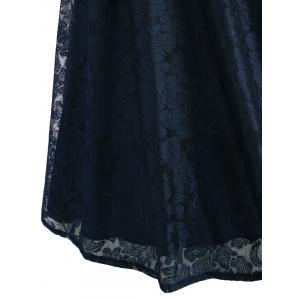 Retro Lace Fit and Flare Cocktail Dress - PURPLISH BLUE 2XL