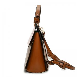 Top Handle Ribbon Print Backpack -