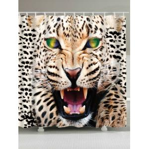 Leopard Print Waterproof Fabric Shower Curtain