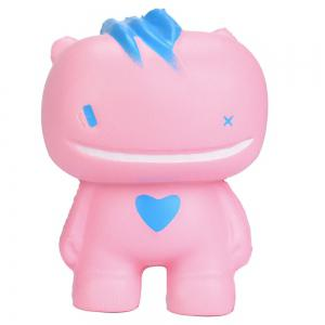 Simulation Grosse bouche Monster PU Squishy Toy - ROSE Pu00c2LE
