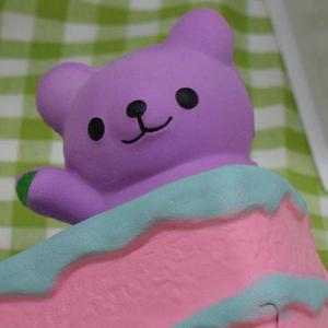 Simulation Cake Bear Slow Rebound PU Squishy Food - PURPLE