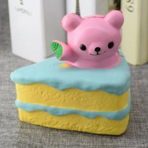 Simulation Cake Bear Slow Rebound PU Squishy Food -