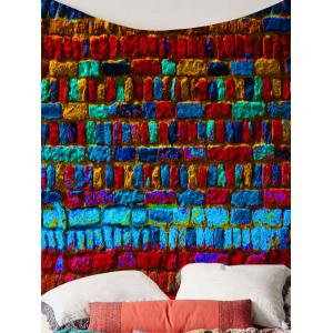 Home Decor Colorful Brick Print Wall Hanging Tapestry -