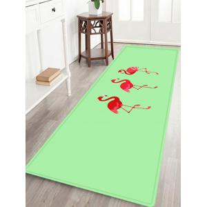 Cartoon Flamingo Pattern Anti-skid Water Absorption Area Rug