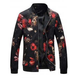 Zip Up Floral Printed Jacket
