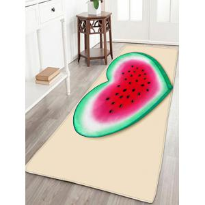 Heart Watermelon Pattern Flannel Skidproof Rug
