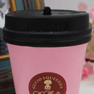 PU Simulation Coffee Cup Toy Squishy - ROSE PÂLE