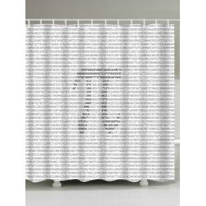 Waterproof Pi Symble Number Print Shower Curtain